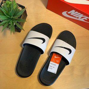 NIB Mens Nike Kawa Slides Slippers Sz 10 Slip Ons